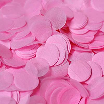 Confeti biodegradable de 1 pulgada, 5000 piezas para decoración de ...