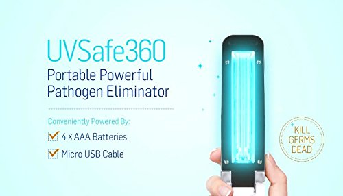UVSafe360 UltraViolet Light Sanitizer   Travel hand wand   Instantly kill Germs and Bacteria