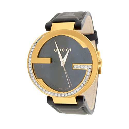 Mens Interlocking Gucci Watch YA133312 Latin GRAMMY 43MM 1.0 CT Diamond