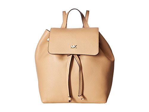 MICHAEL Michael Kors Junie Medium Pebbled Leather Backpack - Butternut
