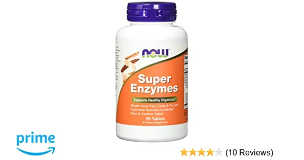 NOW Super Enzymes, 90 Tablets (Pack of 2)