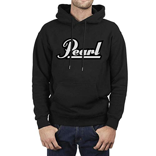 YJRTISF Popular Music Drawstring Ultra Soft Plush Lining Pearl-Drums-Logo- Trending Fleece Personality Hoodie Sweatshirt for Man ()