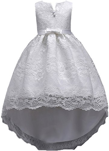 Shiny Toddler Little/Big Girls High-Low Lace Lace Birthday Party Pageant Dress
