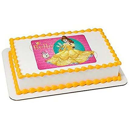 Marvelous 8 Round Disney Princess Belle Birthday Edible Picture Cake Personalised Birthday Cards Paralily Jamesorg