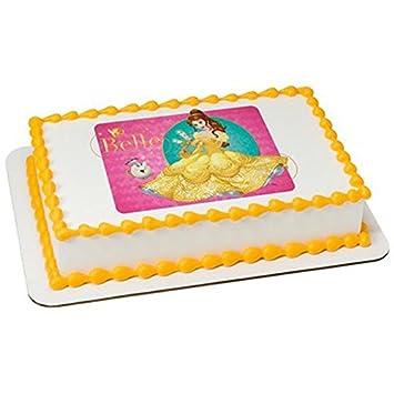 12 Sheet Disney Princess Belle Birthday Edible CakeCupcake