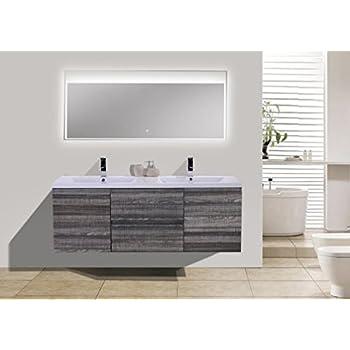 Amazoncom Morenobath Dolce In Free Standing Double Sink - Modern bathroom vanities without sinks