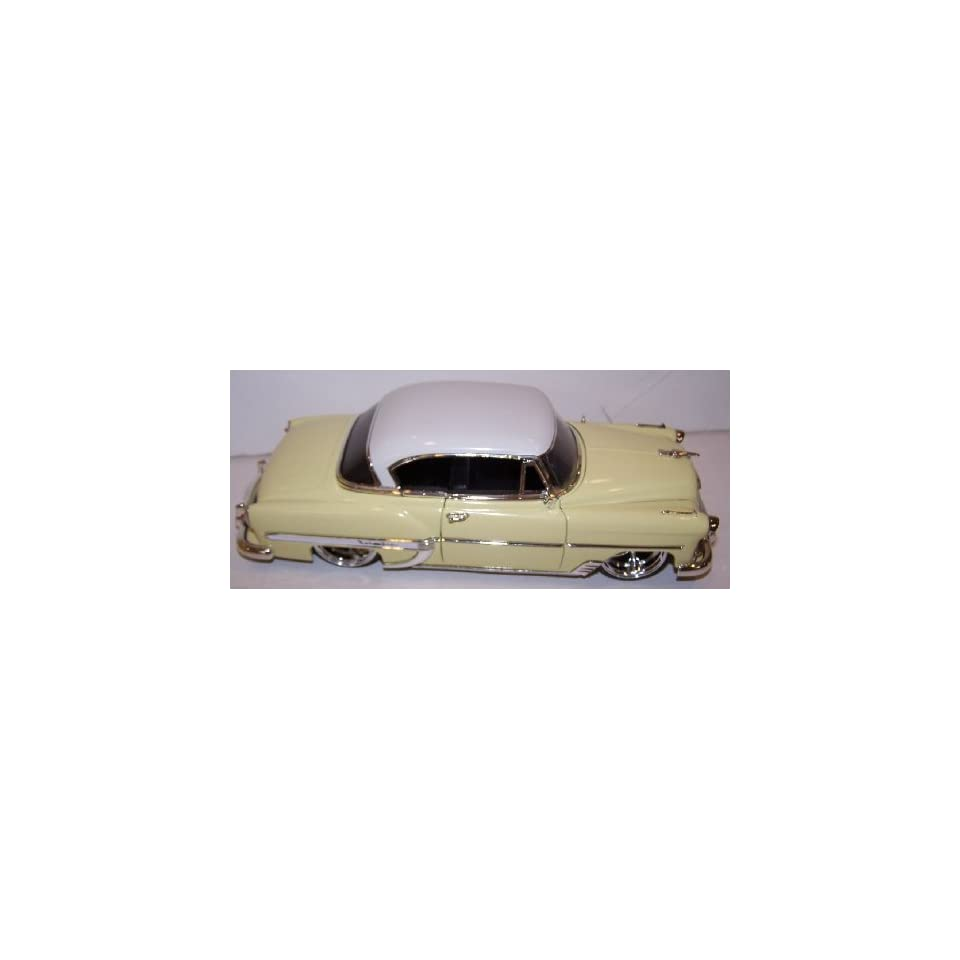 Jada 1/24 Scale Dub City Diecast 1953 Chevy Bel Air in Color Creme with White Top