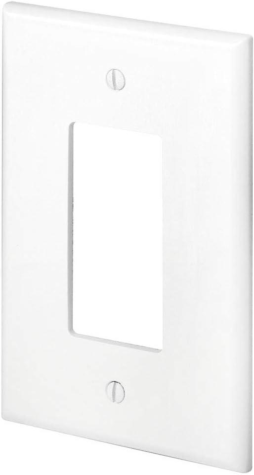 Thermoset 1-pack Leviton Wallplate White 88601 1-Gang Decora//GFCI Device Mount Oversized