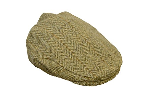 Satin Tweed Cap - Walker and Hawkes Men's Derby Tweed Flat Cap Hunting Shooting Countrywear Hat Large Light Sage