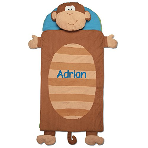 - Stephen Joseph Personalized Monkey Nap Mat with Embroidered Name