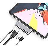 USB C Hub 4 in 1 for iPad Pro 11 12.9 2018 2020 iPad Air 4 2020 / Macbook Pro / MacBook Air / Microsoft Surface Go…
