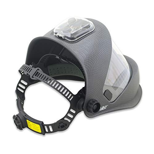 TGR Panoramic 180 View Solar Powered Auto Darkening Welding Helmet - True Color (MATTE CARBON FIBER) by Tool Guy Republic (Image #2)