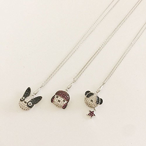 Generic New cartoon animal pet puppy dog ??necklace Micro Pave clavicle chain jewelry accessories women girls lady panda diamond pendant by Generic (Image #4)