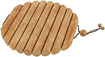 4 Pack Brown Sagaform 5017623 Oak Coasters