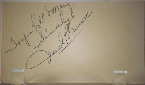 Jewel Brown Vintage Autograph - Jazz Singing Great - Sang with Louis Armstrong 1961 - 1968 - 3x5 Card - Inscribed - Signed 08/15/1964 - Sings with Heritage Hall Jazz Band - Very Rare - Collector's Dream