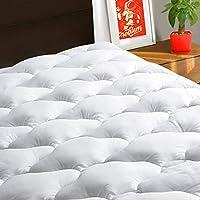 TEXARTIST Mattress Pad Cover Cooling Mattress Topper 400 TC Cotton Pillow Top Mattress Cover Quilted Fitted Mattress...
