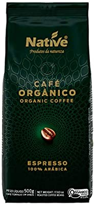 Café Orgânico Torrado em Grãos Native 500g