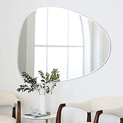 Quality Glass Frameless Decorative Mirror | Mirror Glass for Wall | Mirror for bathrooms | Mirror in Home | Mirror Decor | Mirror Size : 18 X 22 inch