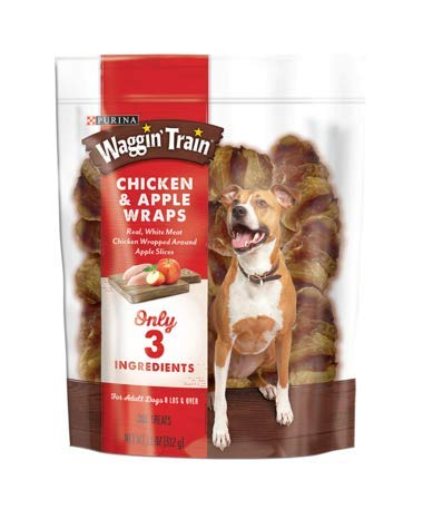 Recipes Treat Dog Apple (Chicken & Apple Wraps Dog Treats, Only 3 Ingredients, Net Wt 11oz)