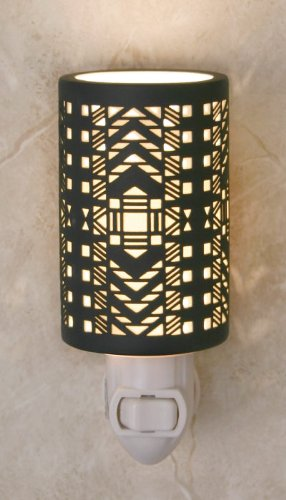 The Porcelain Garden Etched Silhouette Night Light, Paris, Handmade in the USA