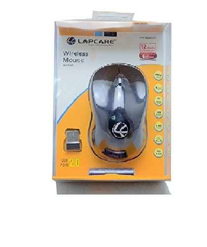 Lapcare WL 300 Wireless Optical Mouse  Black  Mice