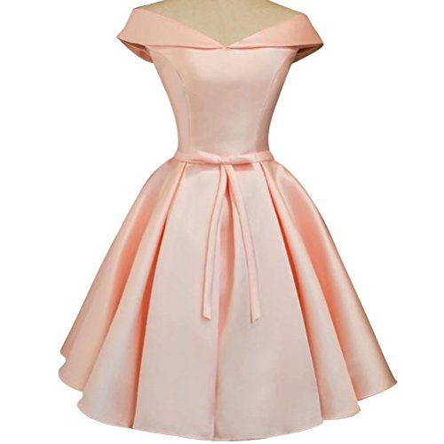 Bridal Dress Pink AiniDress Satin Dresses Wedding Homecoming Party Bridesmaid Short Prom for fpw8SF55qC