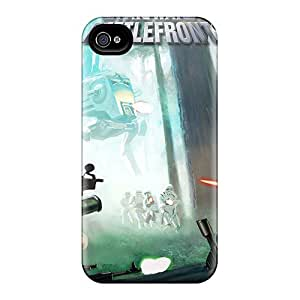 Protective Tpu Case With Fashion Design For Iphone 4/4s (star Wars Battlefron)