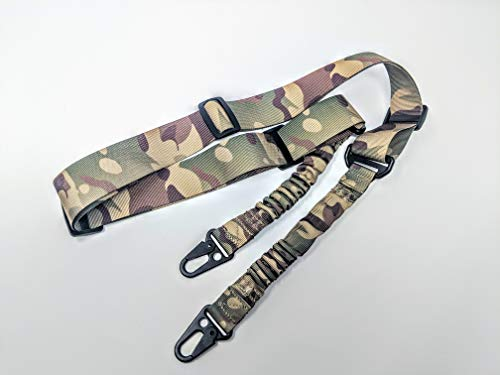Leon's Tactics 2 Point Guns Sling - Tactical Shooting Accessories and Equipment for Paintball, Airsoft, Hunting - Adjustable Nylon Webbing Straps Outdoor Sports Gear - Max Length 216cm - Multicam (Paintball Sling)