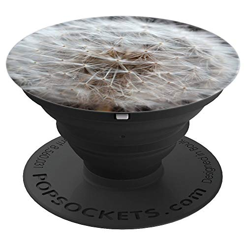 Macro Garden Dandelion Flower Seed Earthy Natural Plant Life - PopSockets Grip and Stand for Phones and Tablets