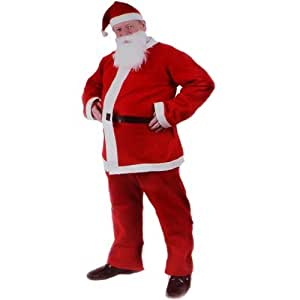 kenable Christmas Xmas Fancy Dress Adult 5 Piece Santa Clause Suit Costume by kenable