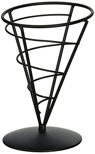 Tablecraft AC57 Appetizer Cone, Black Appetizer Wire Cone Basket