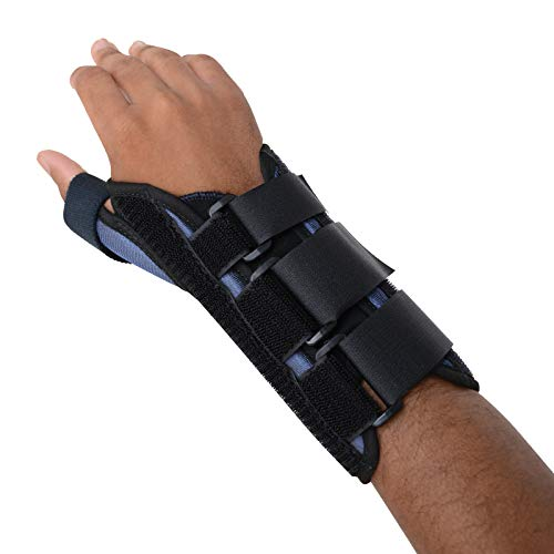 Sammons Preston Thumb Spica Wrist Brace, MC and CMC Joint Support and Stabilizer, Secure Brace and Splint for Thumb with Open Finger, Splint for Recovery, Therapy, Rehabilitation, Right, Large by Sammons Preston (Image #3)