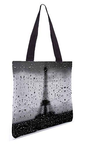 5 13 Shopping gemacht Polyester 15 aus Dienstprogramm Zoll Rainy Segeltuch Einkaufstasche Paris x Snoogg UwgqatxE