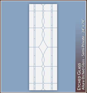 Allure Etched Glass Semi-Private Window Film (24''W x 74''H) by Wallpaper for Windows (Image #2)