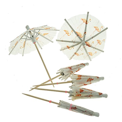 Flamingo-Paper-Umbrellas-Cocktail-Parasol-Picks-Cupcake-Toppers-Picks-Set-of-10-by-GOCROWN
