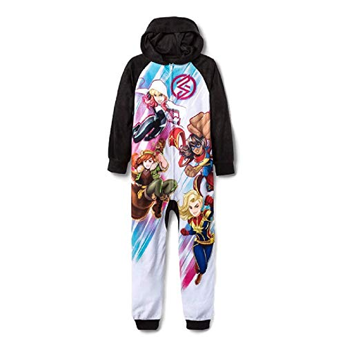 Girls Marvel Rising Blanket Sleeper Union Suit - Small (6/7) Black]()