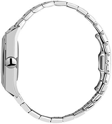 FDC Cadeau de Noël Montres pour Homme Mode Date Bracelet en Acier Inoxydable Montre à Quartz Japonais Abstrait Motif arabesques 56Montre