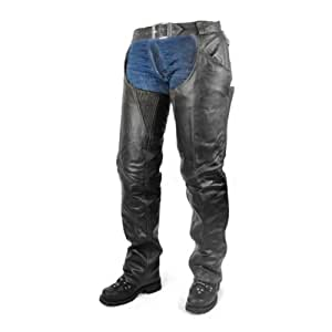 Zip-Out Insulated Thermal Liner Pant Style Motorcycle Leather Chaps M