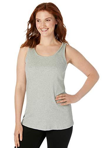Woman Within Women's Plus Size Rib Knit Tank Top