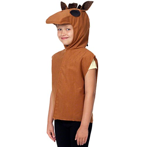 Charlie Crow Horse/Donkey Costume for Kids one Size 3-8 Years Brown ()