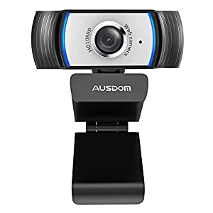 1080P Webcam, AUSDOM AW33 Full HD Web Cam with Built-in Noise Reduction Microphone Stream USB Web Camera for Zoom…
