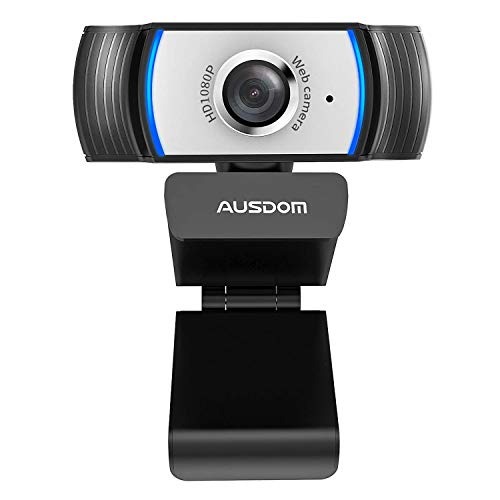 Ausdom aw33 1080p HD webcam USB built-in-noise reduction mic