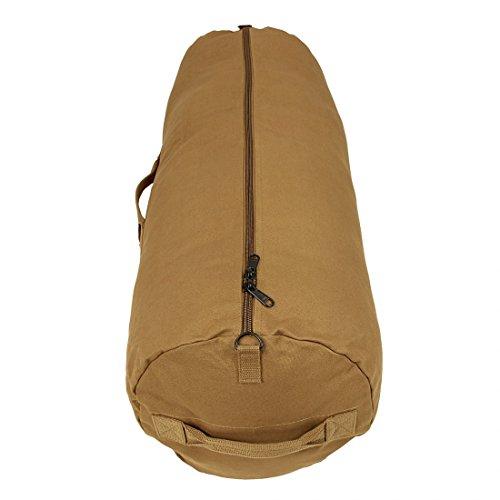 10T RVC Duffle Bag 70L XL Seesack Ø 32x90cm robuste Reisetasche Canvas Rucksack Leinentasche mit Tragegriff Sporttasche aus 100% Baumwolle 625g/m² & extrem stabilem 10mm Reißverschluß