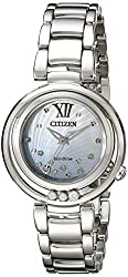 Citizen Women's EM0320-59D Citizen L Sunrise Diamond-Accented Stainless Steel Bracelet Watch