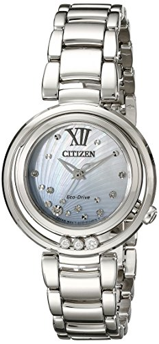 (Citizen Women's EM0320-59D Citizen L Sunrise Diamond-Accented Stainless Steel Bracelet)