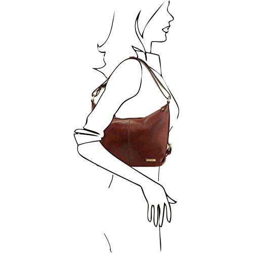 Tuscany Leather Sabrina Bolso en piel para mujer Negro Bolsos de asa larga Negro