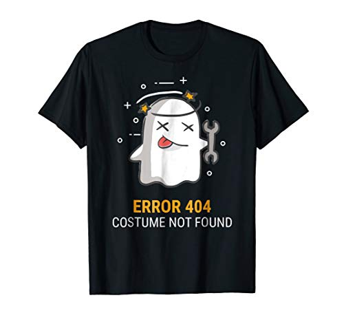 Error 404 Costume Not Found Easy Halloween Ghost -