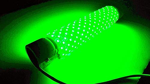 (Green, Blue, White or Multi-Color) Blob Underwater 110 Volt Dock Fishing Light Dock-15000 Lumen, LED Fish Attractor Night with 30ft Power Cord, Bait rig, Fish attractant, Ponds (Green)