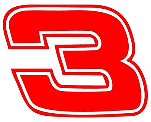 Decal Flags USA Dale Earnhardt #3 - Red - Peel and Stick Sticker - Auto, Wall, Laptop, Cell, Truck Sticker for Windows, Cars, Trucks ()