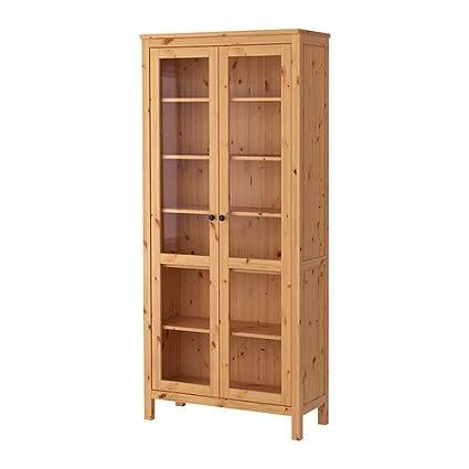 Amazon Ikea Glass Door Cabinet Light Brown 142626851834